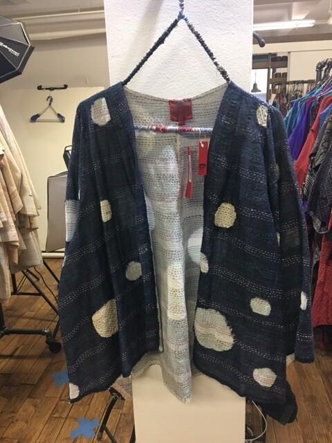 Mieko Mintz Cut Through Dot and Holes Bell Shape Jacket