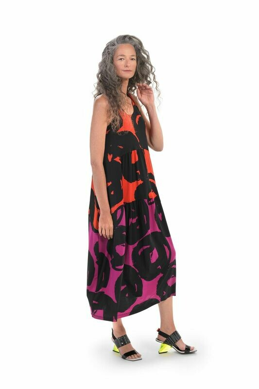 Alembika Art Print Tank Mid Dress