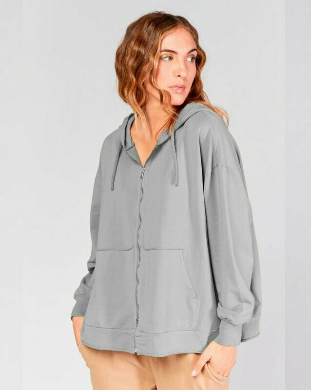 Baci Gray Sweatshirt Zip Up Hoody