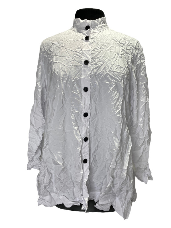 MSquare White Crinkle Free Shirt with Pockets