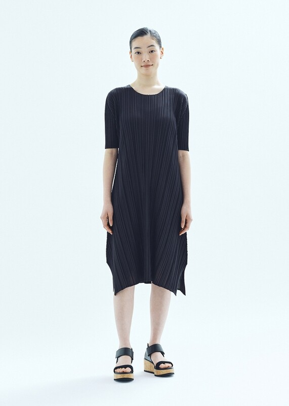Pleats Please by Issey Miyake Black Mellow Dress