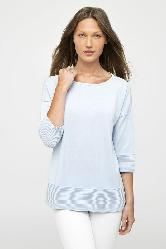 Kinross White Cotton Pullover Sweater