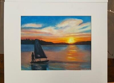 Sunset on the Reservoir Print