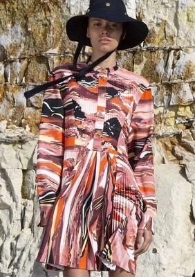 FANTASY PRINT SILK DRESS