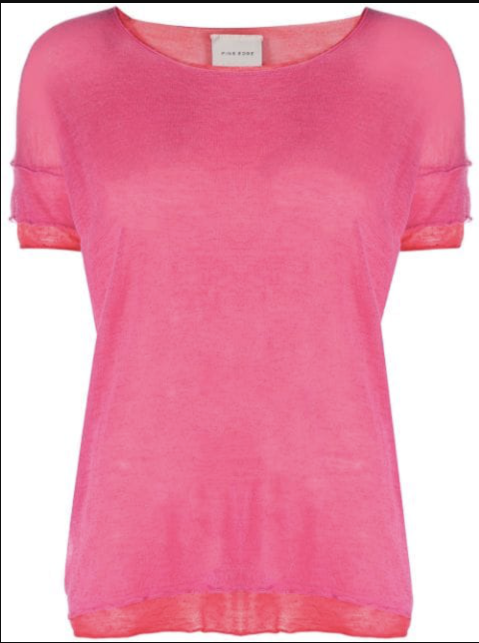 T-SHIRT FINE EDGE PINK/RED