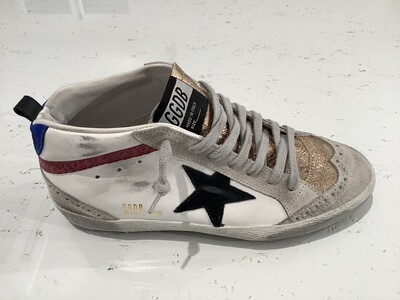 MID STAR LEATHER UPPER AND STAR LEOPARD SUEDE WAVE