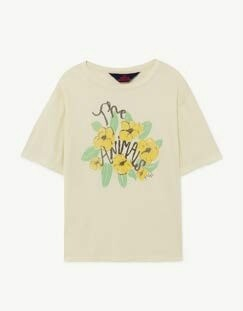 ROOSTER OVERSIZED T-SHIRT WHITE FLOWERS