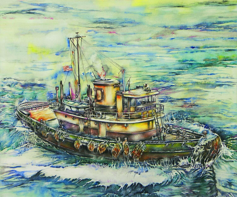 "Home & Office Decor Prints | ""Tugboat Daizelard"""