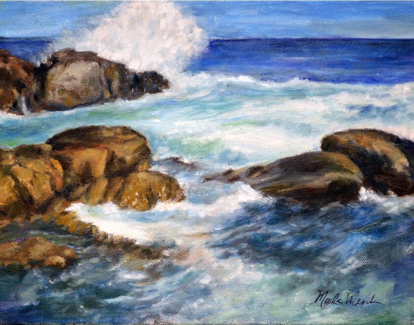 "Art Work Prints | ""Rocky Surf"""