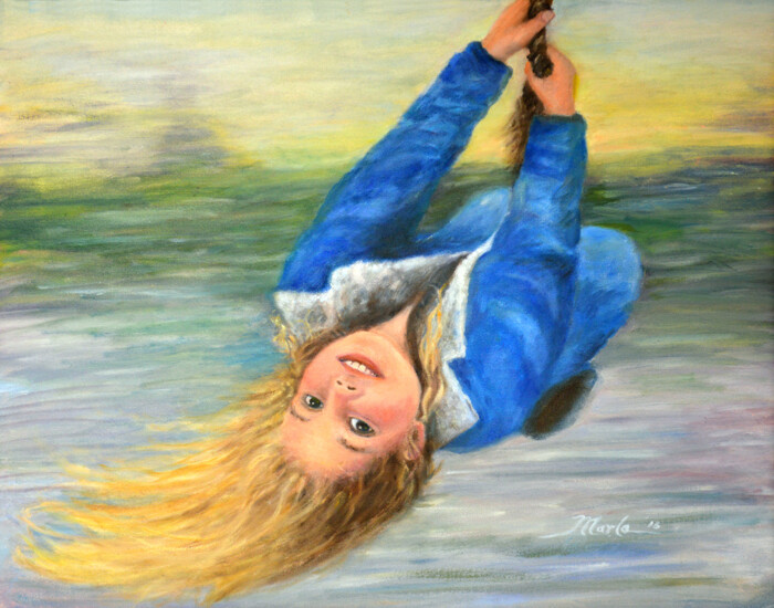"Art Giclee Prints | ""Girl on Swing"""