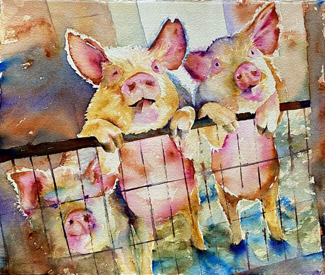 "Fine Art Original Prints | ""Three Little Ones"""