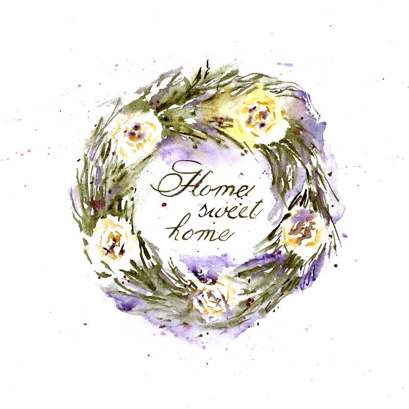 "Home Decor Giclee Prints | ""Home Sweet Home"""