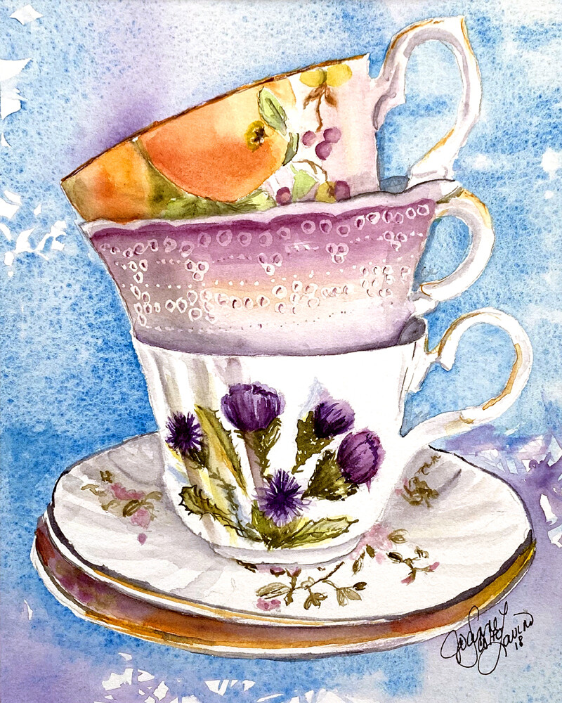 """Home or Office Decor Prints   """"Tea for Three"""""""