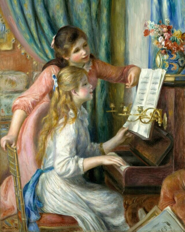 Auguste Renoir   Two Young Girls at the Piano