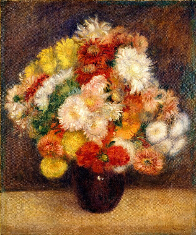 Auguste Renoir | Bouquet of Chrysanthemums