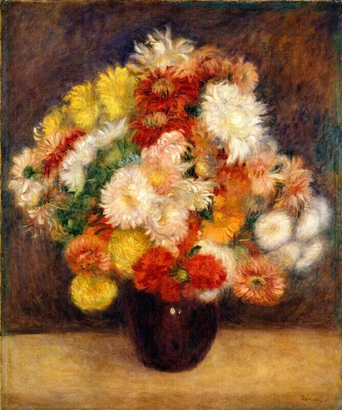 Auguste Renoir   Bouquet of Chrysanthemums