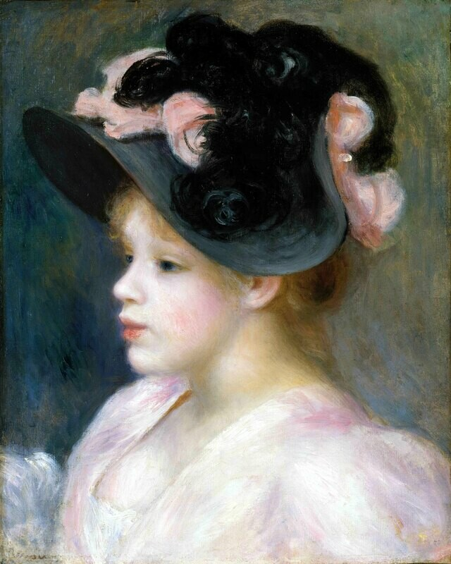 Auguste Renoir   Young Girl in a Pink-and-Black Hat