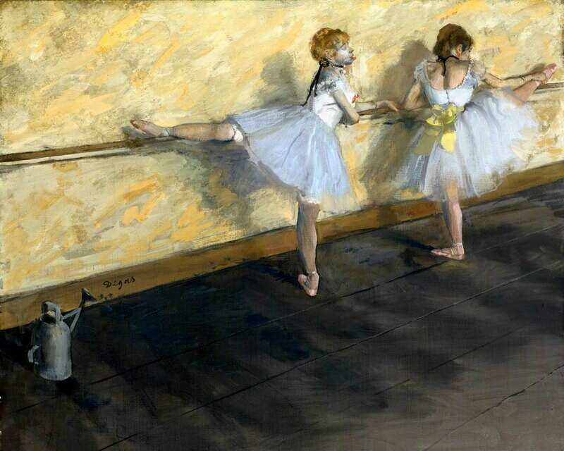 Edgar Degas | Dancers Practicing at the Barre