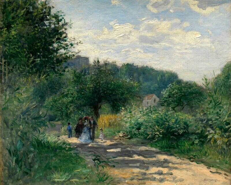 Auguste Renoir   A Road in Louveciennes