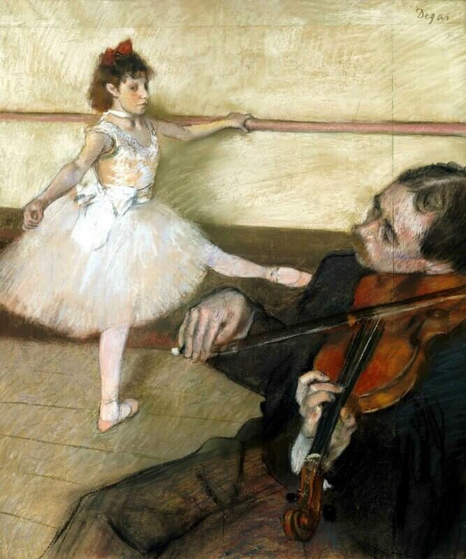 Edgar Degas | The Dance Lesson