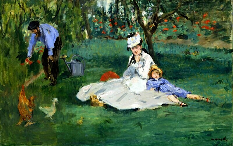 Edouard Manet | The Monet Family in Their Garden at Argenteuil