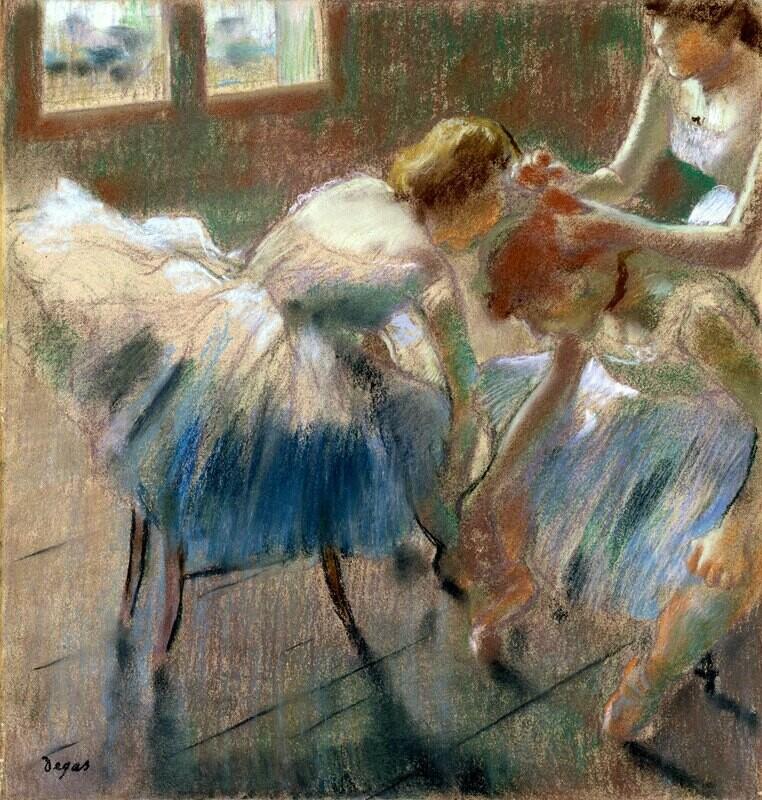 Edgar Degas | Three Dancers Preparing for Class
