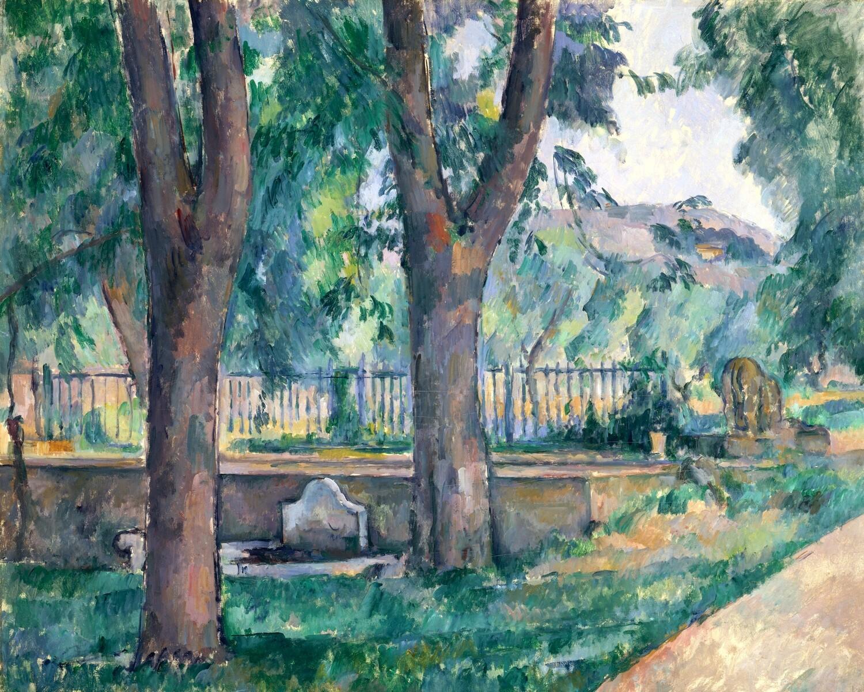 Paul Cézanne | The Pool at Jas de Bouffan
