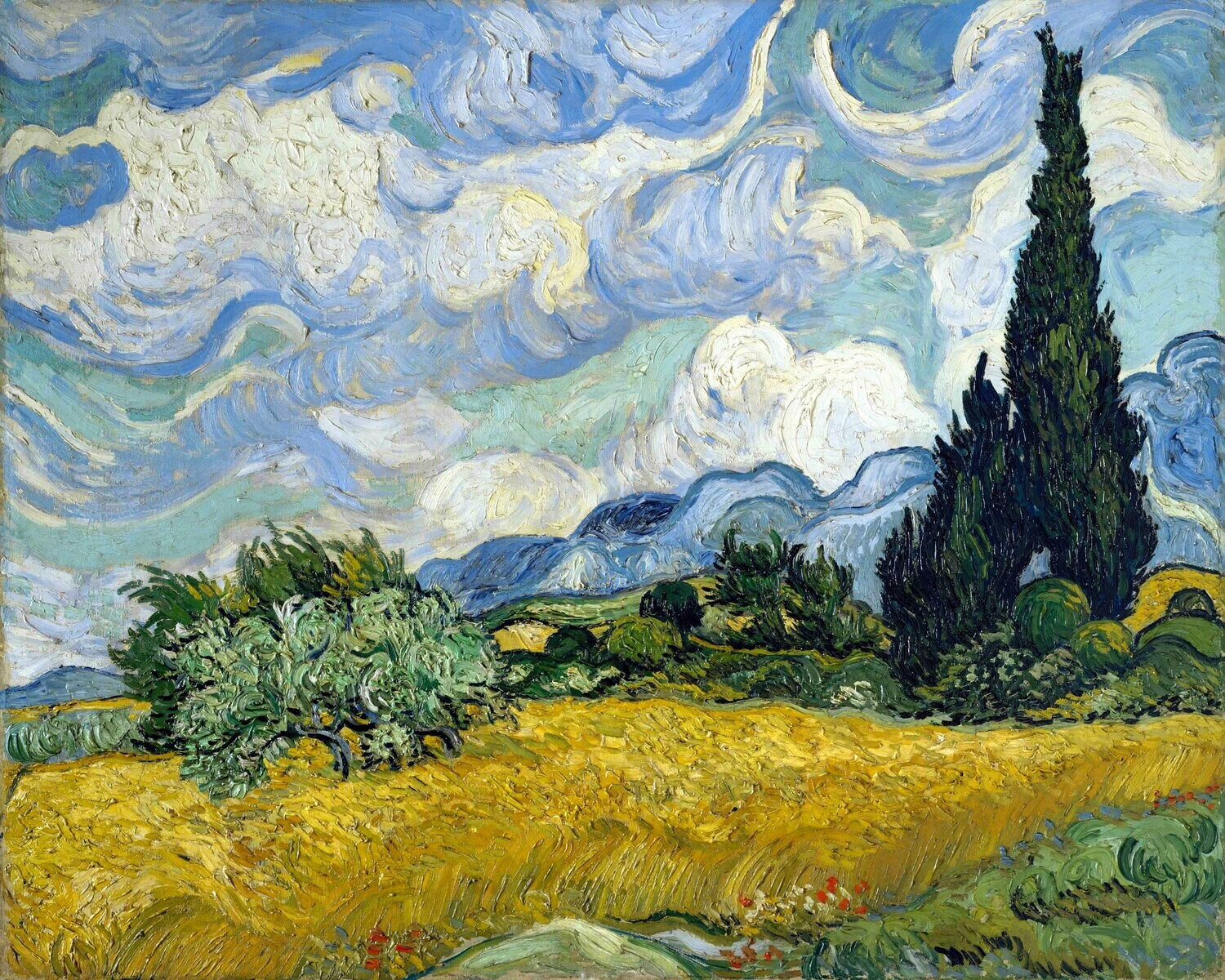 Vincent van Gogh | Wheat Field with Cypresses