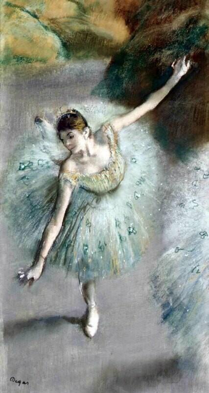 Edgar Degas | Dancer in Green