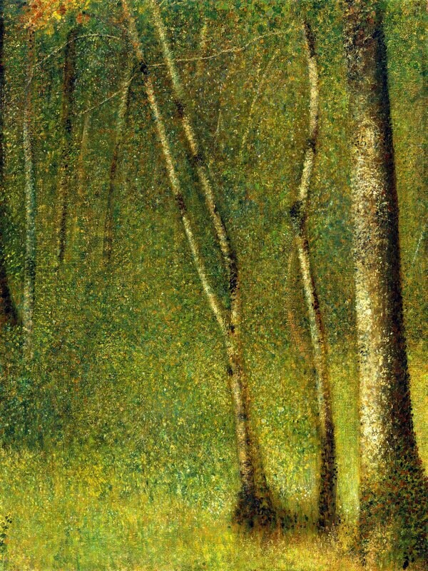 Georges Seurat | The Forest at Pontaubert