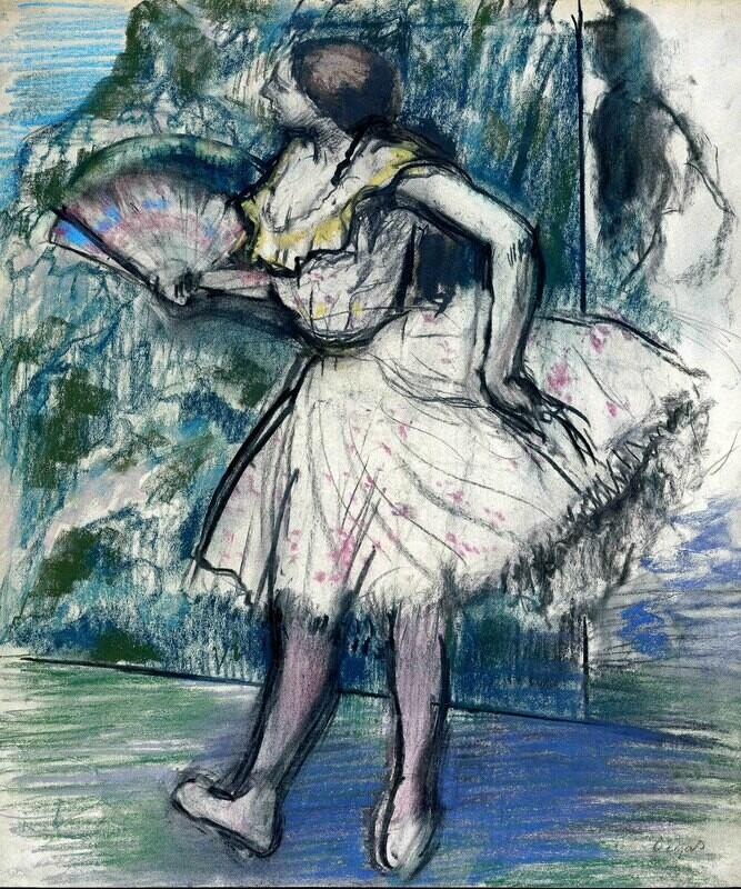 Edgar Degas | Dancer with a Fan