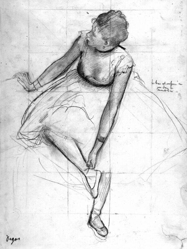 Edgar Degas | Dancer Adjusting Her Slipper
