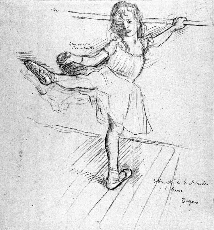 Edgar Degas | Little Girl Practicing at the Bar