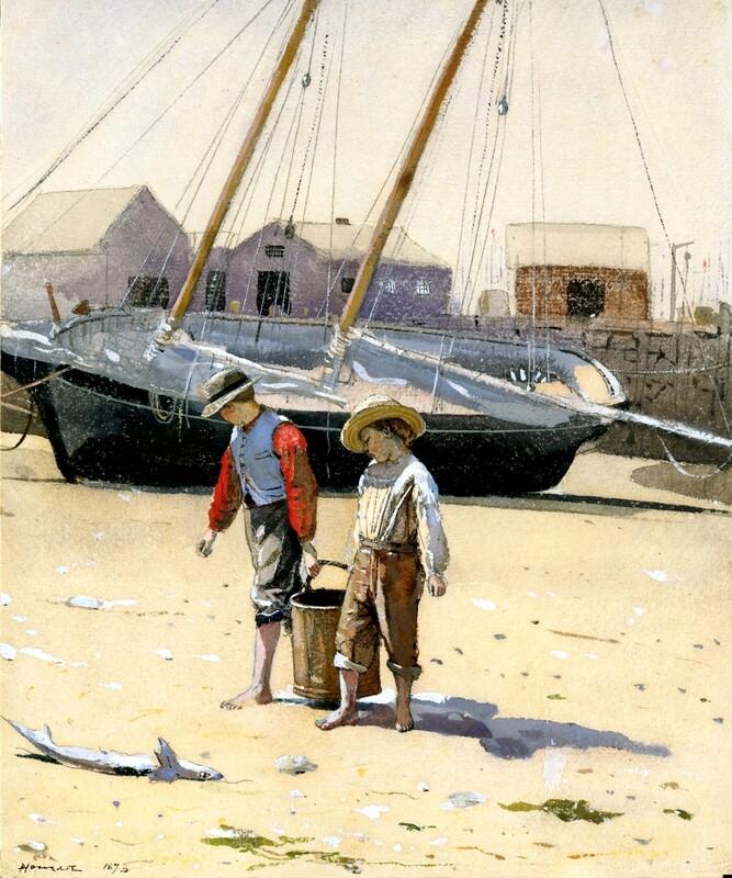 Winslow Homer | A Basket of Clams ca 1873