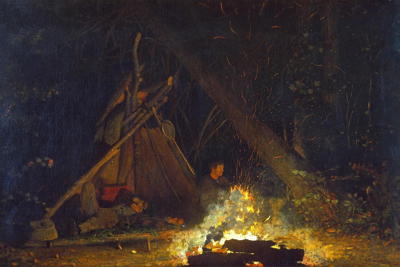 Winslow Homer | Camp Fire 1890