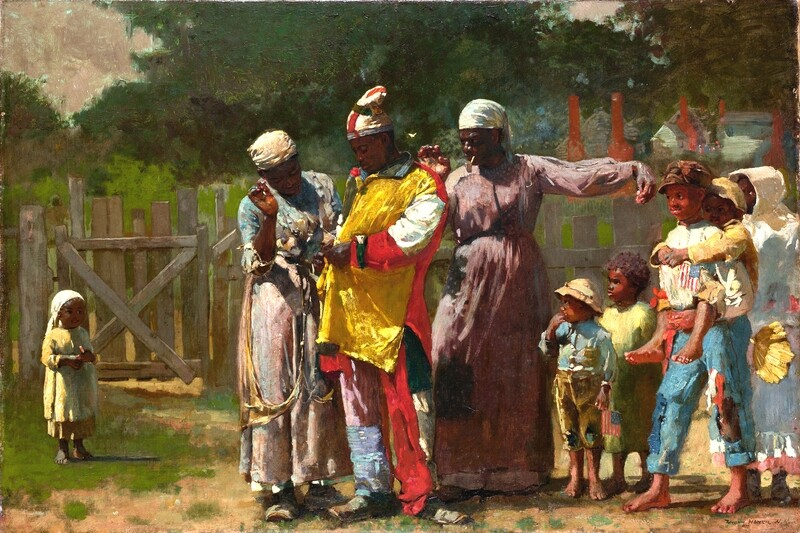 Winslow Homer | Dressing for the Carnival ca. 1877