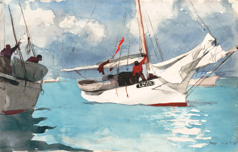 Winslow Homer   Fishing Boats, Key West 1903