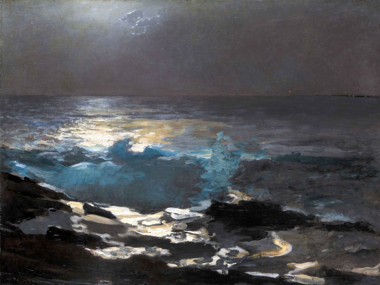 Winslow Homer   Moonlight, Wood Island Light 1894