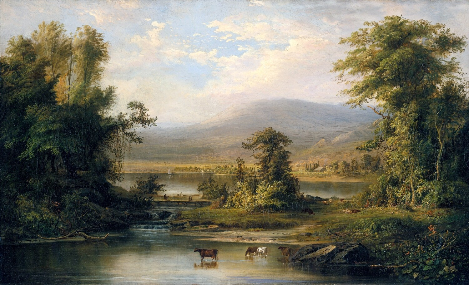 Robert Duncanson | Landscape with Cows Watering in a Stream 1871