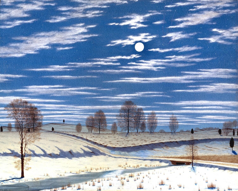 Henry Farrer | Winter Scene in Moonlight 1869