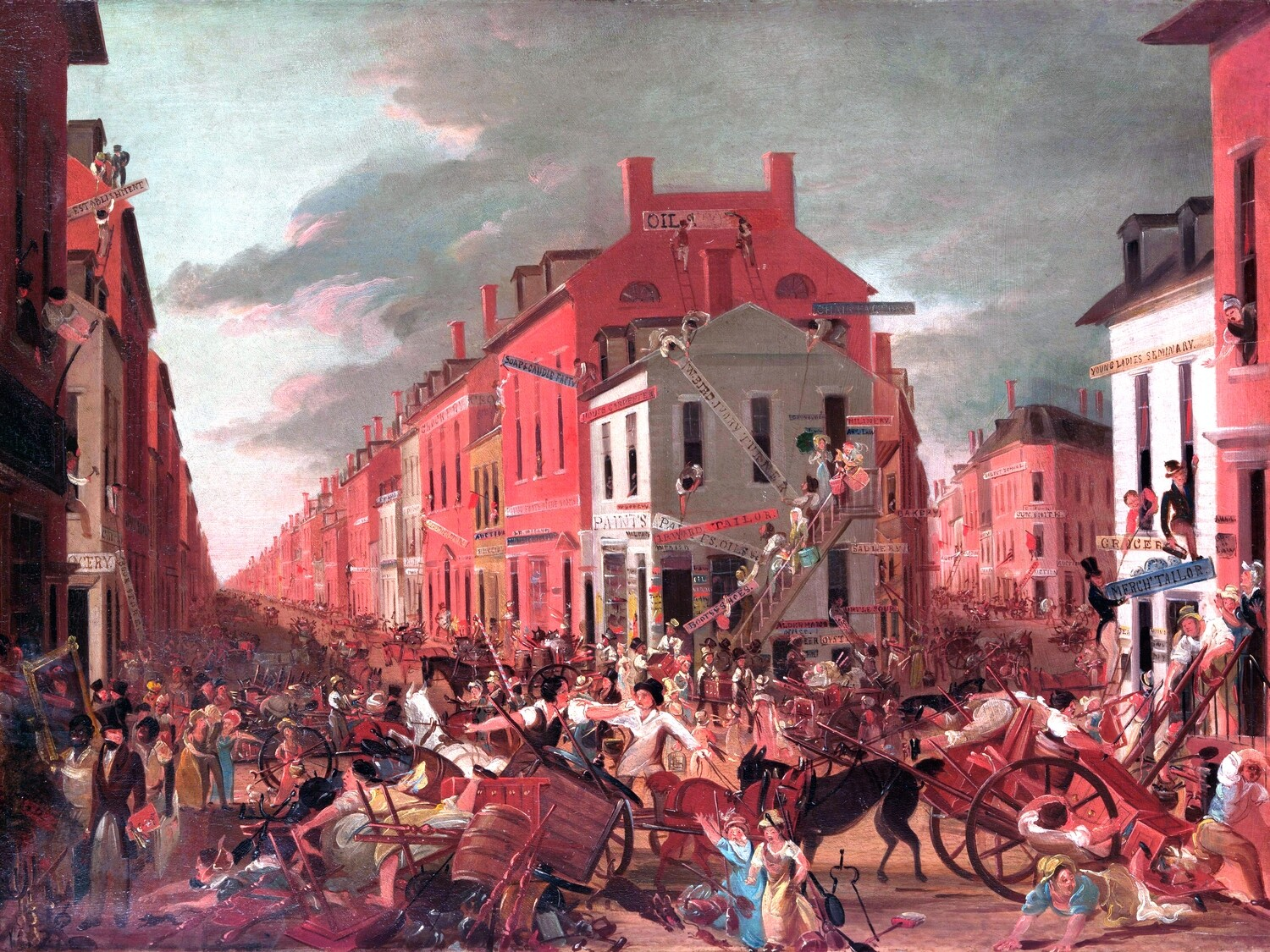 Unknown Artist | Moving Day (in Little Old New York) 1827
