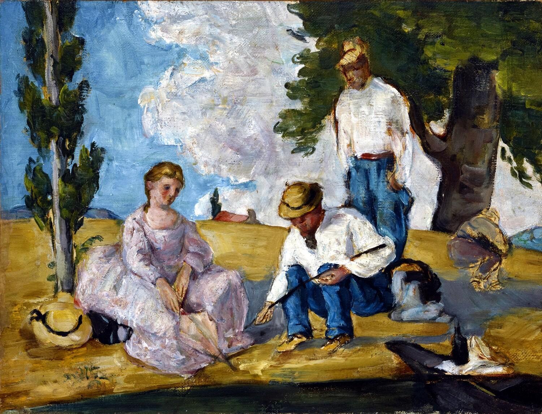 Paul Cézanne   Picnic on a Riverbank