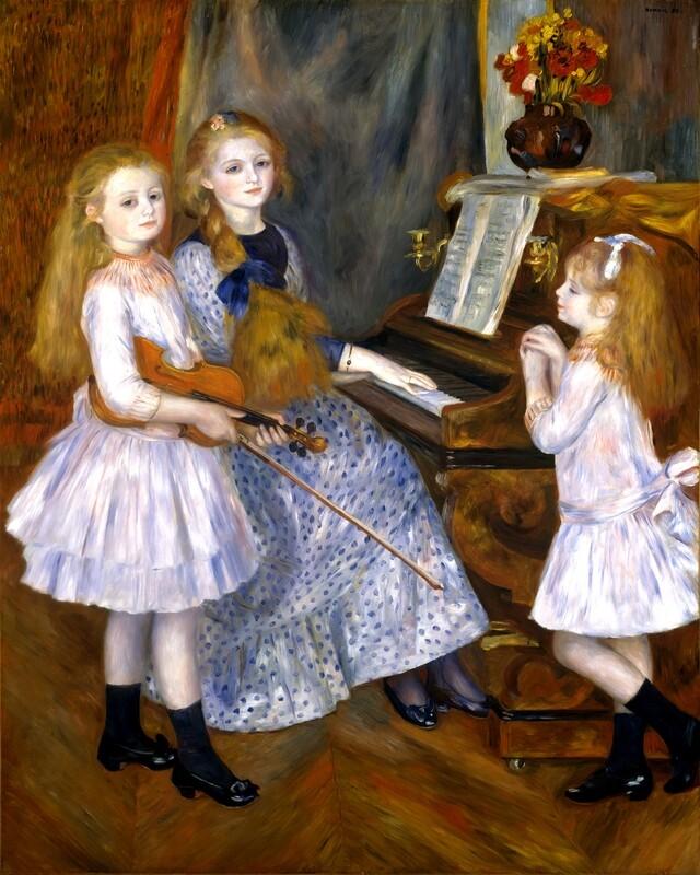 Auguste Renoir   The Daughters of Catulle Mendès