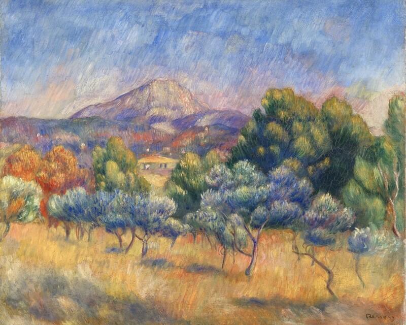 Auguste Renoir   Mont Sainte Victoire