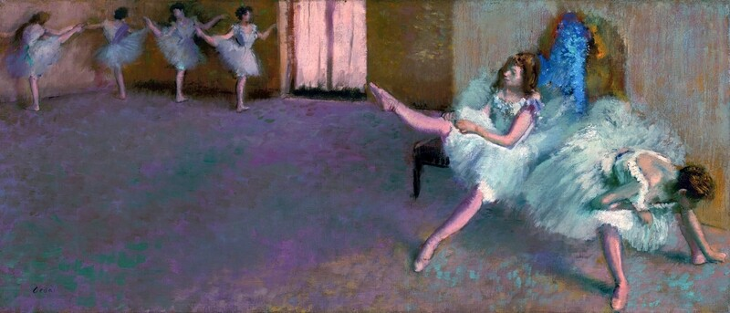 Edgar Degas | Before the Ballet 1890