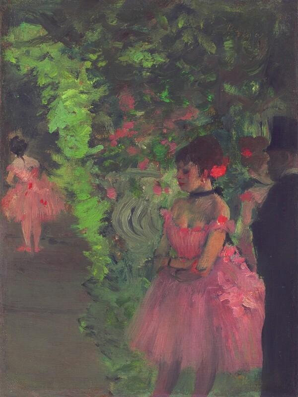 Edgar Degas | Dancers backstage 1876