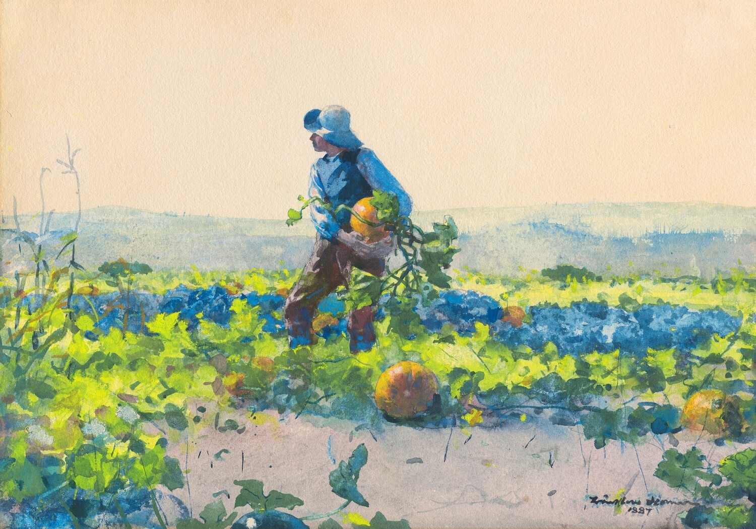 Winslow Homer   For to be a Farmer's Boy 1887