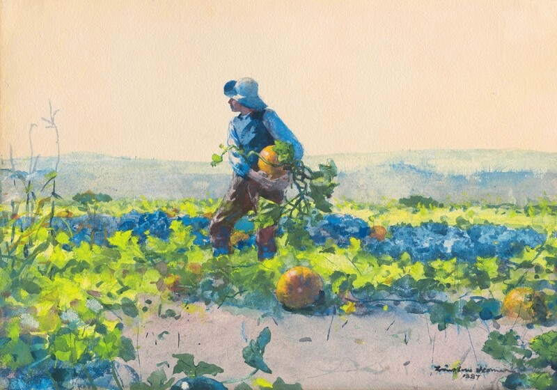 Winslow Homer | For to be a Farmer's Boy 1887