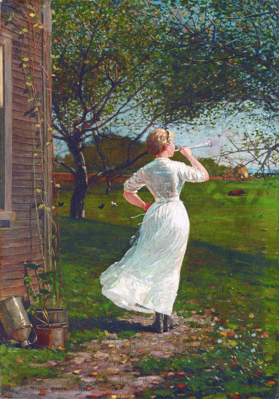 Winslow Homer | The Dinner Horn 1870