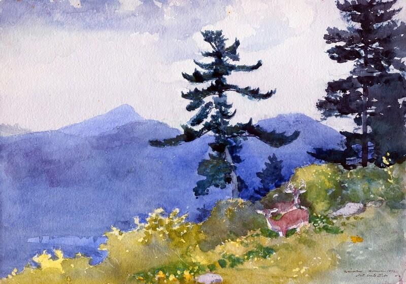 Winslow Homer | North Woods Club, Adirondacks 1892